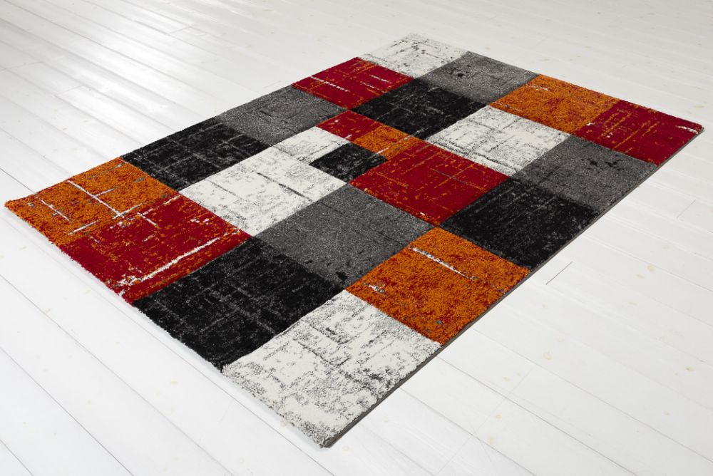 Moody Square Red/Orange 160x230
